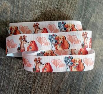 1 Yard Disney Lady & The Tramp Grosgrain Ribbon