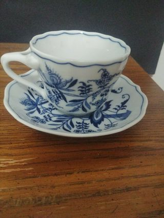 Blue Danube Teacup and Saucer
