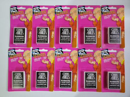 LOT OF TEN OVER THE HILL RUBBER GAG GIFT CONDOM VINTAGE NOVELTY
