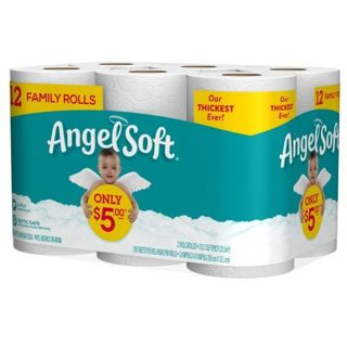 New in Pack--Angel Soft Bath Tissue--200 Sheets Per Roll. 12 Family Rolls = 20 Regular Rolls