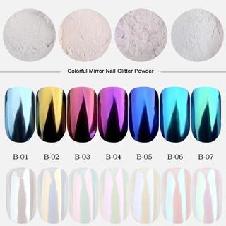 0.5g Mirror Nail Glitter Powder Fashion Nail Art Decorations Shimmer Gold Blue Purple Colorful Dus