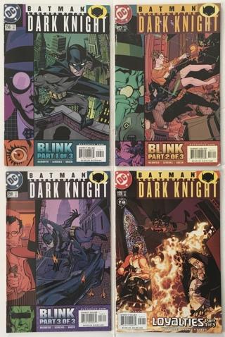 Batman: Legends Of The Dark Knight #s 156 157 158 and 159 Run Lot of 4 DC Comics