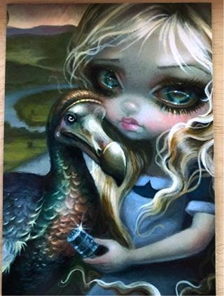 "Big Eyes with Bird - 3 x 5"" MAGNET"