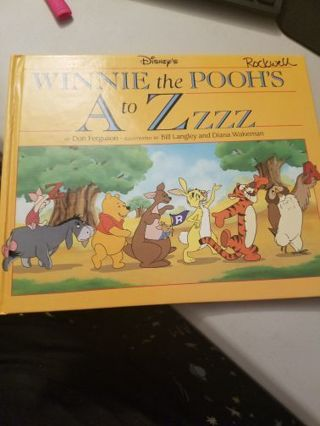 Disney Winnie the Pooh's A to Zzzz Hardcover Book