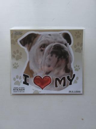 """""""I Love My Bulldog"""" Decal."""