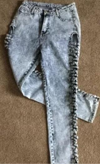 Cross cross open side stretch jeans 30 X 30