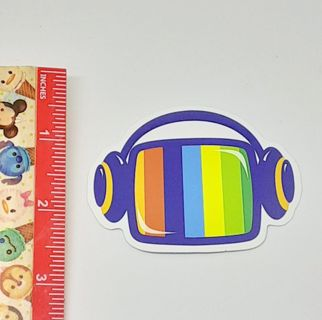 Headphones Colorful Large sticker decal NEW