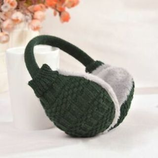 Muffs Winter Furry Gift Warm Knitted Earmuffs Washable Removable Ear Cover