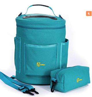 Knitting Bag Yarn Storage - Durable Canvas Yarn Bag