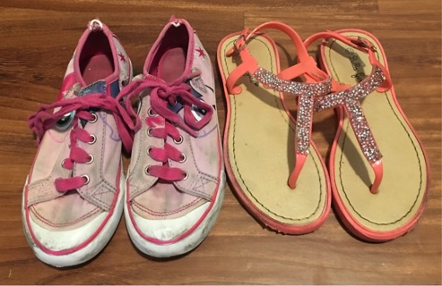 2 Pair Of Girl Shoes 12 & 13