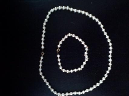 ♥Wonderful Pearl Necklace and Bracelet Set♥