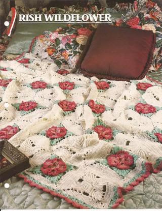 ... Crochet Pattern - IRISH WILDFLOWER - Annies Attic Afghan Club Pattern