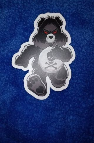 THE Dark and Evil I DON'T CARE BEAR 3X3 INCH MATTE PRINTED WATERPROOF STICKER