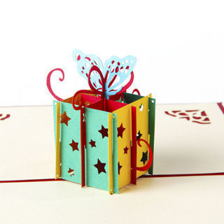 3D Pop Up Greeting Card Butterfly Hollow Candy Box Birthday Christmas Thank You