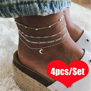 Bracelet Women Girl Anklet Adjustable Chain Foot Beach Jewelry