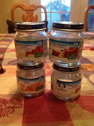 Empty baby food jars #9