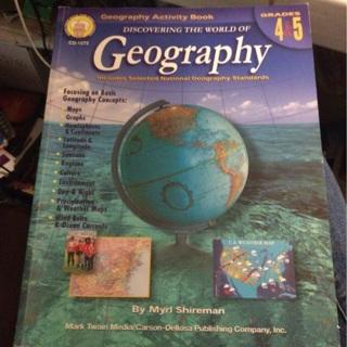 Geography Activity Book -Grades 4 & 5. Homeschool