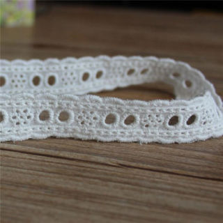 3 Yards Embroidered Cotton Lace Edge Trim Eyelet Dress Sewing Clothes Craft