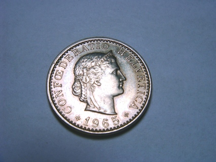 Free: Swiss (Confoederatio Helvetica) 20 franc coin, 1965