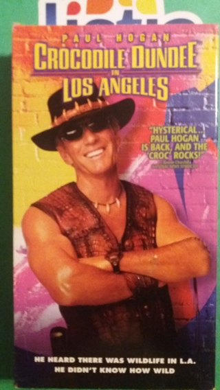 VHS movie  crocodile dundee in los angeles  free shipping