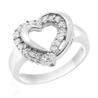 Stamped 925 Sterling Silver Heart  Ring BN