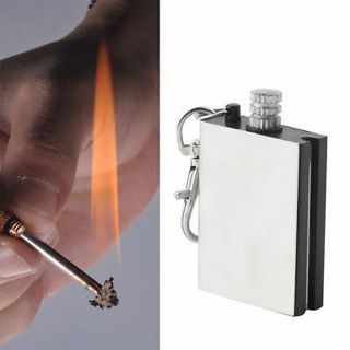 Fire Starter Flint Match Lighter Metal Hiking Emergency Kits Keyring Gift HOT