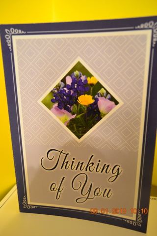 ****BEAUTIFUL NAVY BLUE THINKING OF YOU BLANK CARD W/MATCHING ENVELOPE***FREE SHIPPING