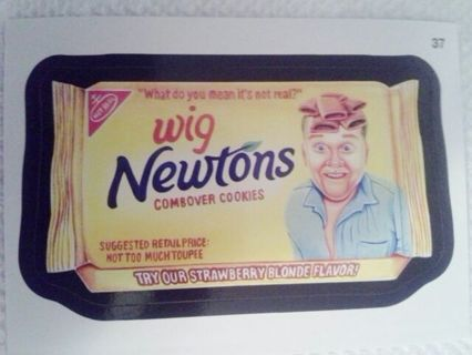 Free Wacky Packages Sticker Wig Newtons Fig Newtons
