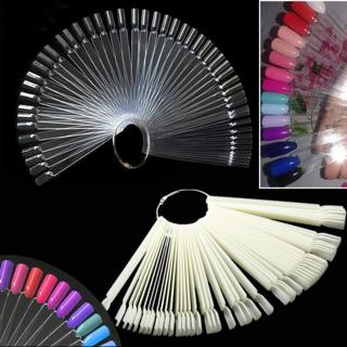 False Display Nail Art Fan Wheel Polish Practice board Tip Sticks Nail Art 50pcs