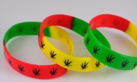 NEW Cannabis Leaf Wristband Bracelet Pot Plant Marijuana Jewelry ~ Winner Wins ONE