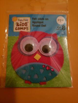 Owl felt applique