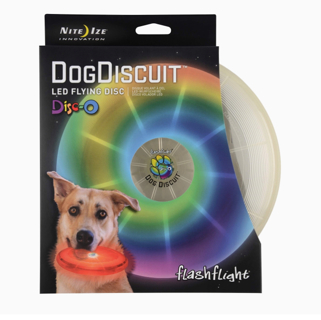 Nite Ize Flashflight LED Dog Discuit - Best Dog Flying Disc For All Hours of Play