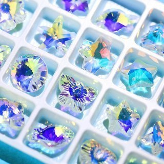 [GIN FOR FREE SHIPPING] 28Pcs/Pack Charms Crystal AB Glass Beads