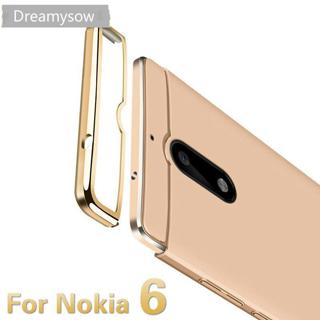 Dreamysow Luxury Removable 3 in 1 Hard Plastic Case For Nokia 6 Cover PC Plating Matte Back Cover
