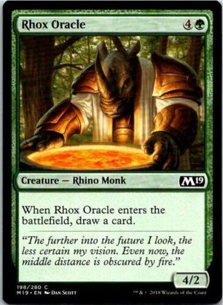 Rhox Oracle Magic The Gathering 2019 Core Card