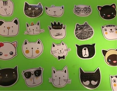 20 Fabulous dye cut Japanese cat stickers KAWAII