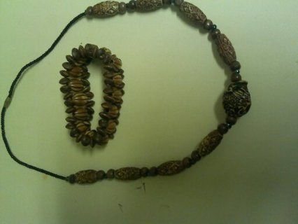 Wooden Bracelet and Necklace from Ghana