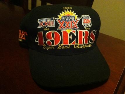 Free  VINTAGE 1995 SUPER BOWL XXIX SAN FRANCISCO 49ERS SNAPBACK HAT ... 49a5cfa13a0