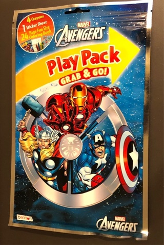 """BNIP: Marvel's """"AVENGERS"""" Play Pack w/Markers, Coloring Book & Stickers!"""