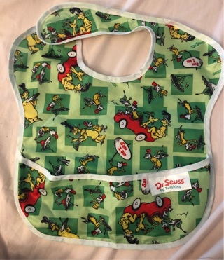 Bumkins Dr Seuss SuperBib Baby Bib Waterproof Washable 6-24 Months, Excellent Condition