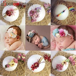 BalleenShiny Princess Flower Headband Newborn Baby Boy Girl Artificial Floral Photography Prop Hai