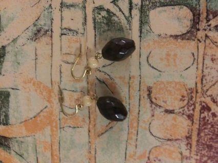 a nice pair of earrings pastel an dark