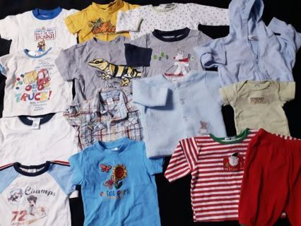 Mixed Lot Bundle Of Baby Boy Clothing Shirts Tops onesies outfit 3 3-6 6 Months FREE SHIPPING