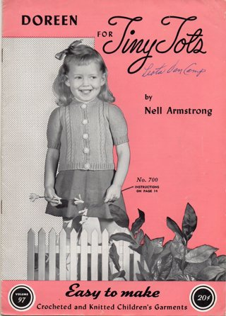 Vintage Craft Book: For Tiny Tots Crochet and Knitting