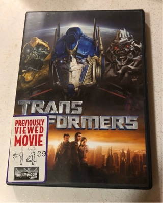 Trans Formers DVD Movie