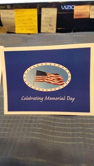 CELEBRATING MEMORIAL DAY CARD W/ ENVELOPE