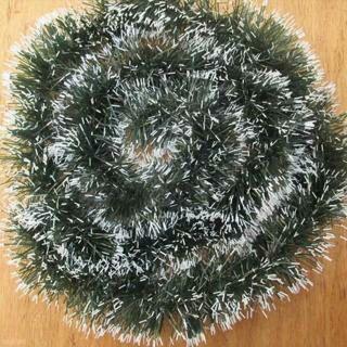 2PCs Christmas Holiday Thanksgiving Day Decoration Decor Xmas Tree Dark Green Ribbon