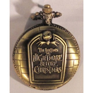 The Nightmare Before Christmas Copper Tone Alloy Pocket Watch + Bonus Free Watch Chain.