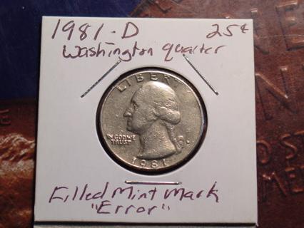 Free: 1981 D WASHINGTON ERROR FILLED