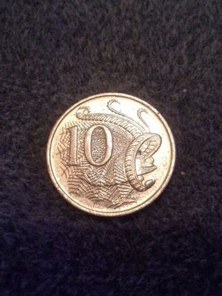 1989 Australian 10 Cent Coin